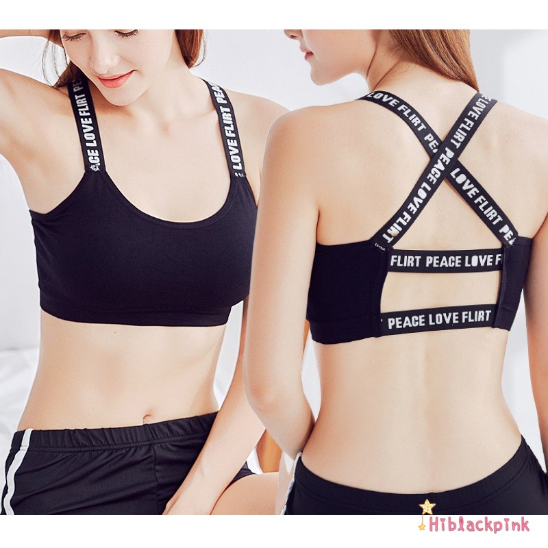 Activewear Women's Clothing Women Girl Colorful Straps Push-up Breathable Fashion Bra Running Sport Yoga Top