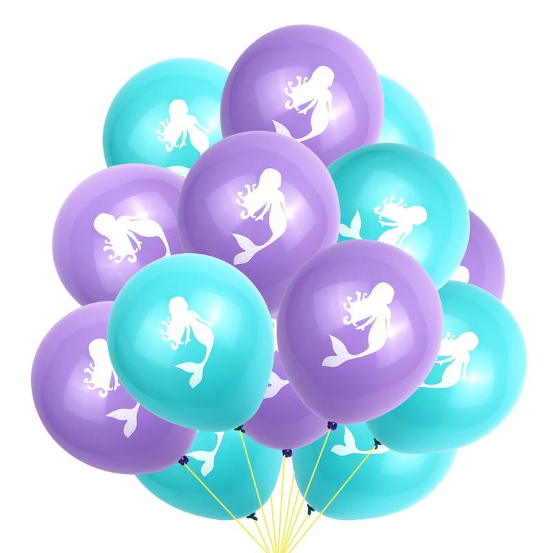 10pcs Mermaid Latex Balloon Birthday Wedding Party Decoration Party Supplies