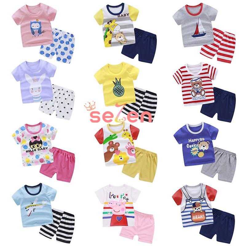 5cf1a6dc8408 Newborn baby girl clothes short sleeve cloud t-shirts+pants+headband  outfits | Shopee Malaysia