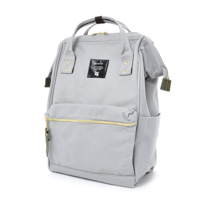 8c5c4537ca41 100% Authentic Anello Polyester Canvas Backpack Rucksack (Light Gray ...