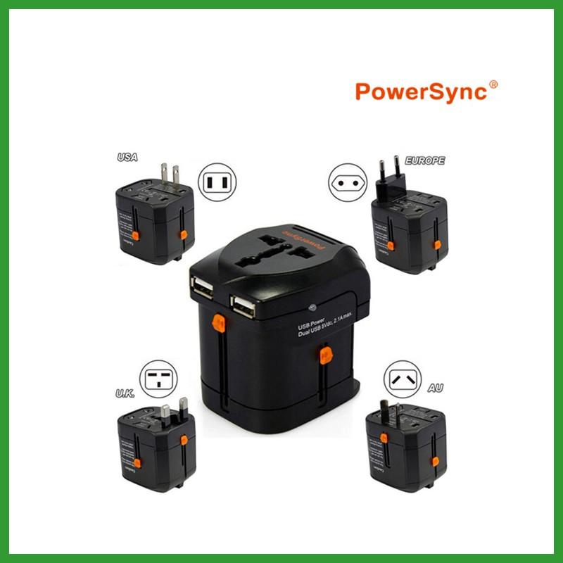PowerSync Universal Travel Adapter 2.1A Dual USB