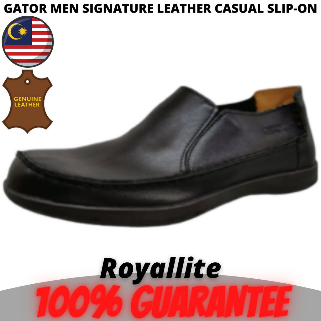 GATOR MEN SIGNATURE LEATHER CASUAL SLIP-ON (3173) Black