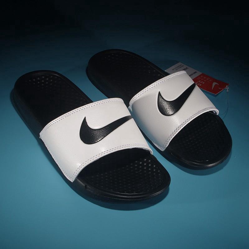 big sale 82848 4f2eb Original Nike Benassi Swoosh unisex slippers sandals 4