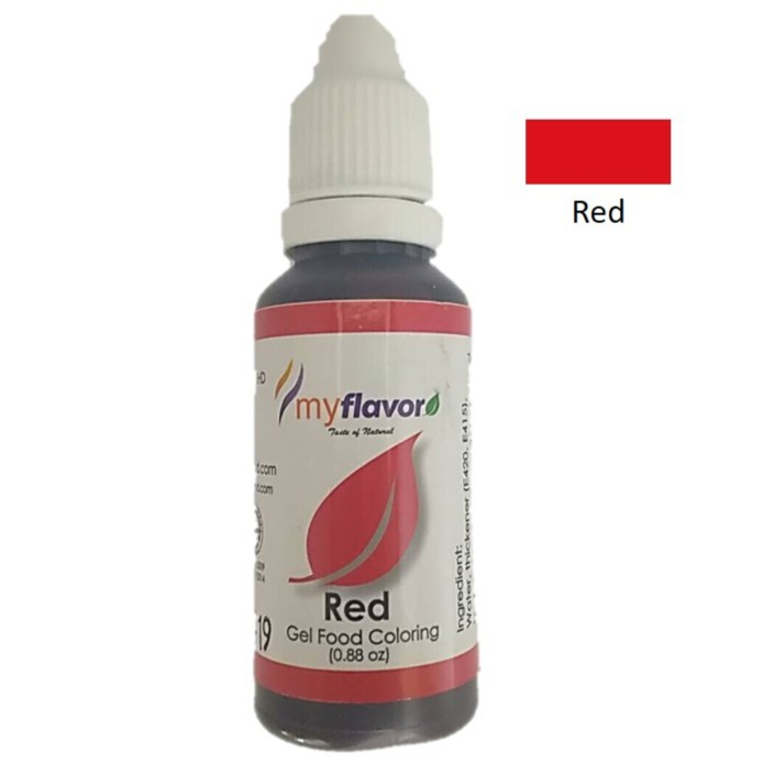 My Flavor Gel Colour Red 25g