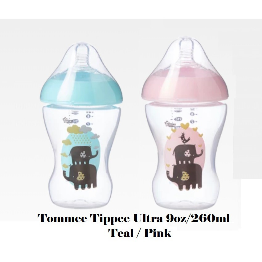069df22125f Readystock! 1pcs Tommee Tippee Ultra Decorated Bottle Blue Pink 11oz ...