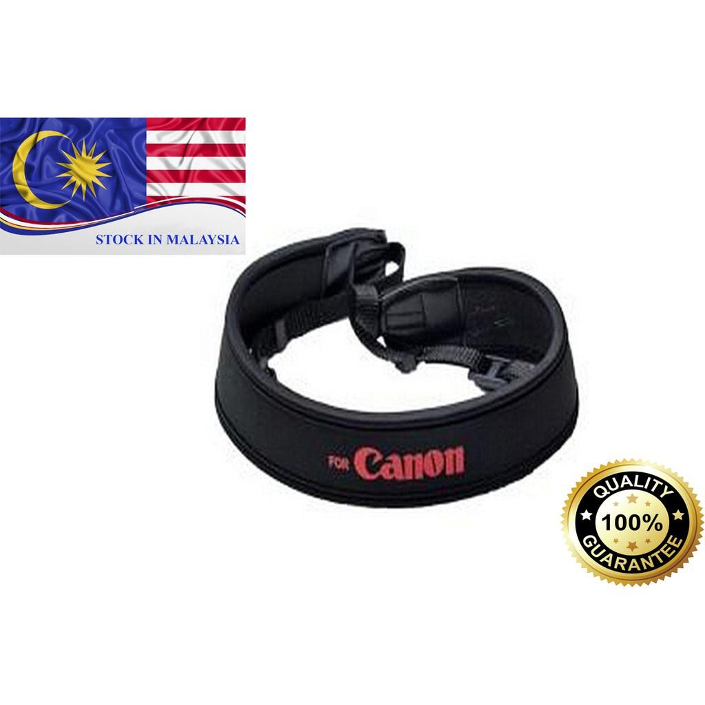 Black Neoprene Neck/Shoulder Strap For Canon DSLR (Ready Stock In Malaysia)