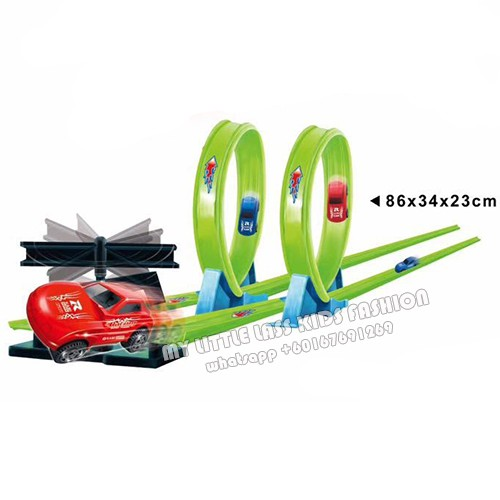 Track 360 degree Speed Powerful Spin Way Track WIth 2 Pull Back Cars