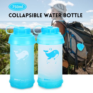 ffa1a065465b 750ml Collapsible Water Bottle Lightweight Outdoor Sports Travel ...