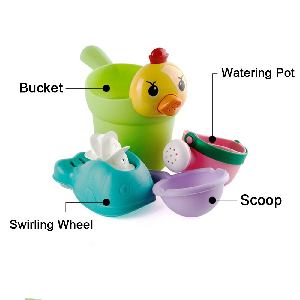 Baby Bath Toy Plastic Watering Pot Beach Play Sand Water Tool Kids Toys Gift  PD