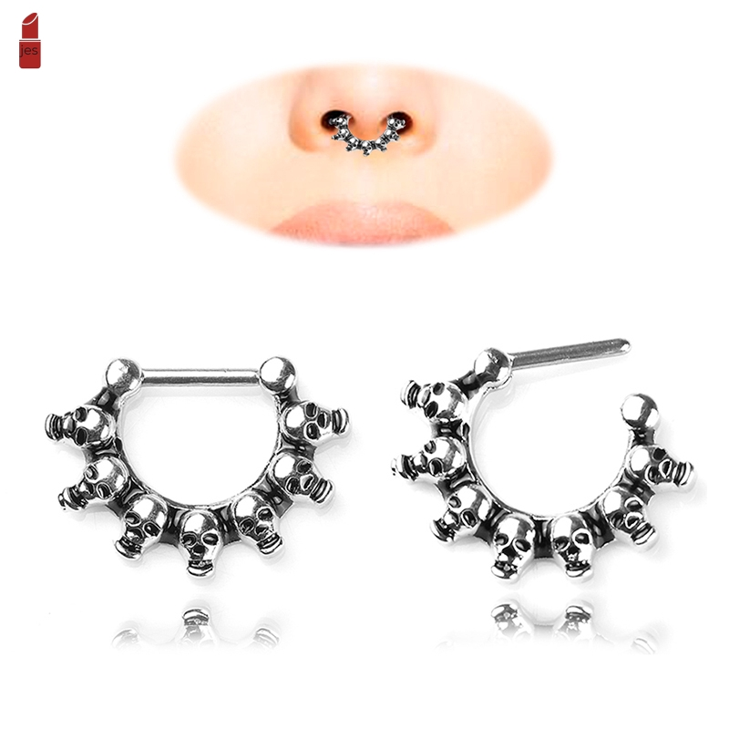 Cod Skull Nose Ring Earrings Electroplating Alloy Jewelry For
