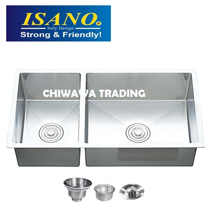 ISANO B8245 Stainless Steel Kitchen Sink Bowl Basin Drainer
