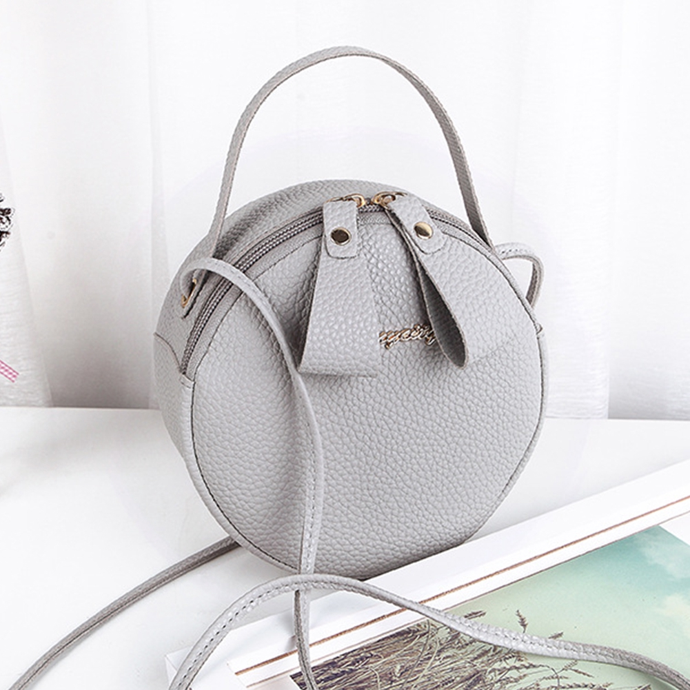 638c3a4ebd4 Women Shoulder Sling Tote Zipper Closure Round Fashion Party Mini Messenger  Bag