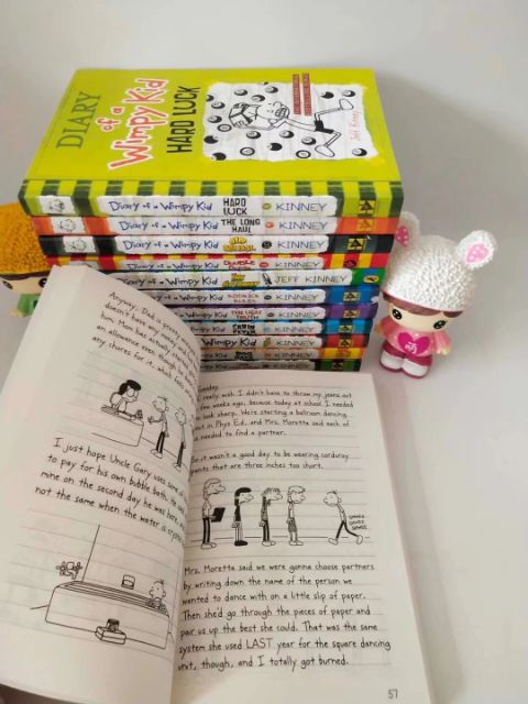 M'SIA READY STOCK|12 books) DIARY OF A WIMPY KID | Shopee