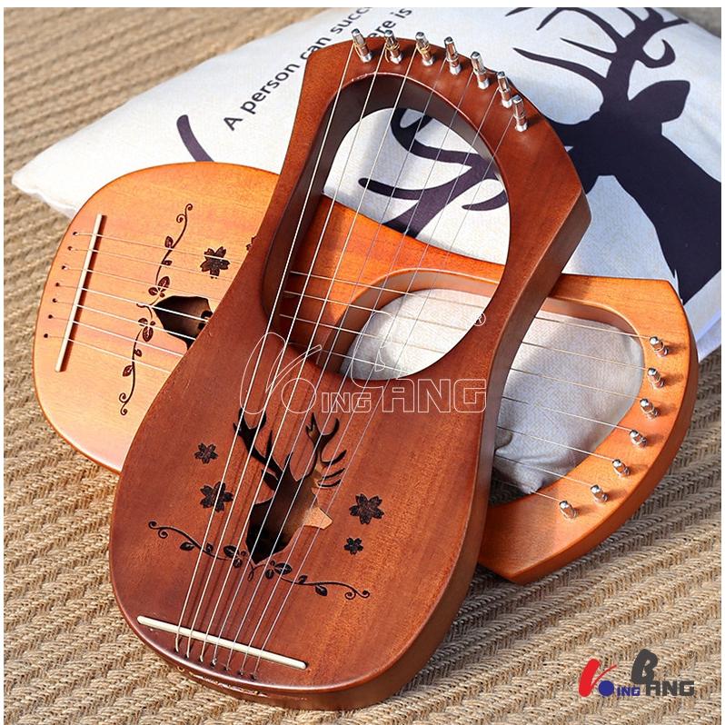 Lyre 7 Key Harp 7 String Harp Wood Lute Harp Mahogany Shopee Malaysia