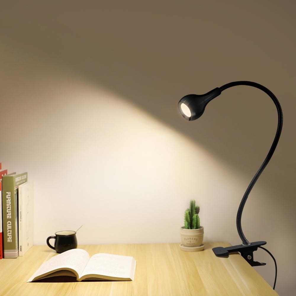 5v Usb Power Led Desk Lamp Flexible Study Reading Book Lights Eye Protect With Clip For Home Bedroom Study Lighting Shopee Malaysia
