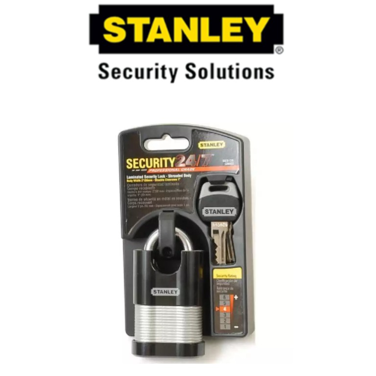 STANLEY S828-228 LAMINATED SECURITY LOCK 2' 50MM (SHROUDED)