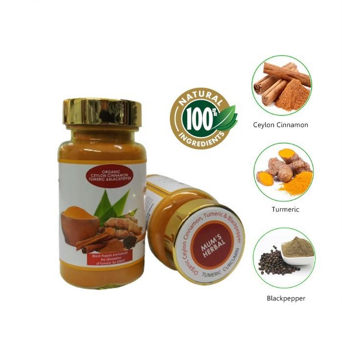 Organic MUM'S HERBAL Ceylon Cinnamon Turmeric & Black Pepper