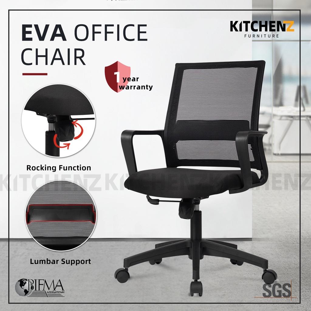 (Highly Recommended WFH Office Chair) HomeZ EVA Mesh Office Chair with Ergonomic Design / Kerusi Pejabat - HMZ-OC-MB-EVA