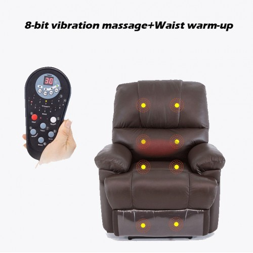 Deluxe Massage Recliner Sofa Chair Lounge Executive Heated With Control