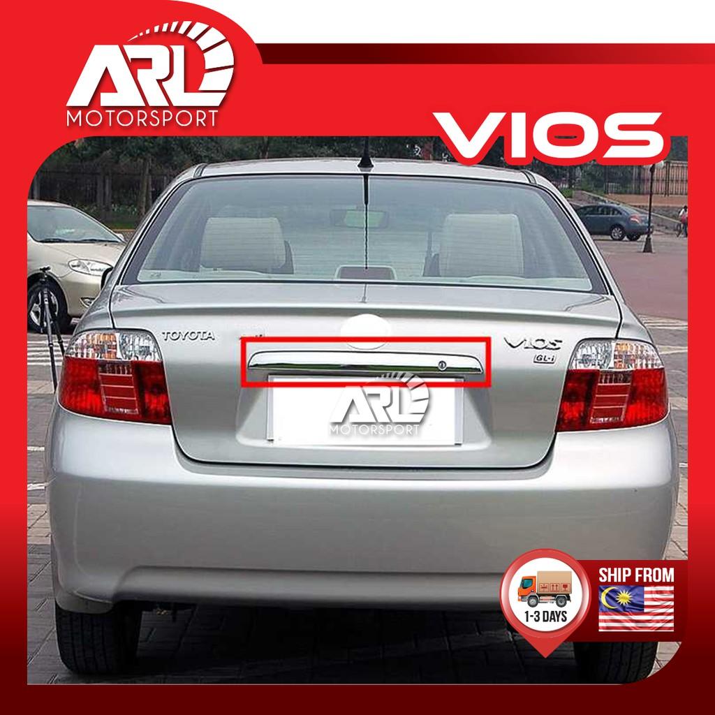 Toyota Vios (2003 - 2006) NCP42 Rear Chrome Bar Car Auto Acccessories ARL Motorsport