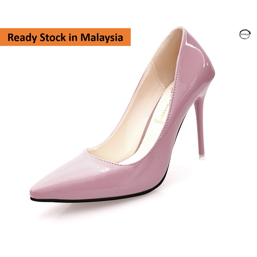 afb1bac13a3 7cm Women OL casual high heels stiletto shoes- pink, black and grey