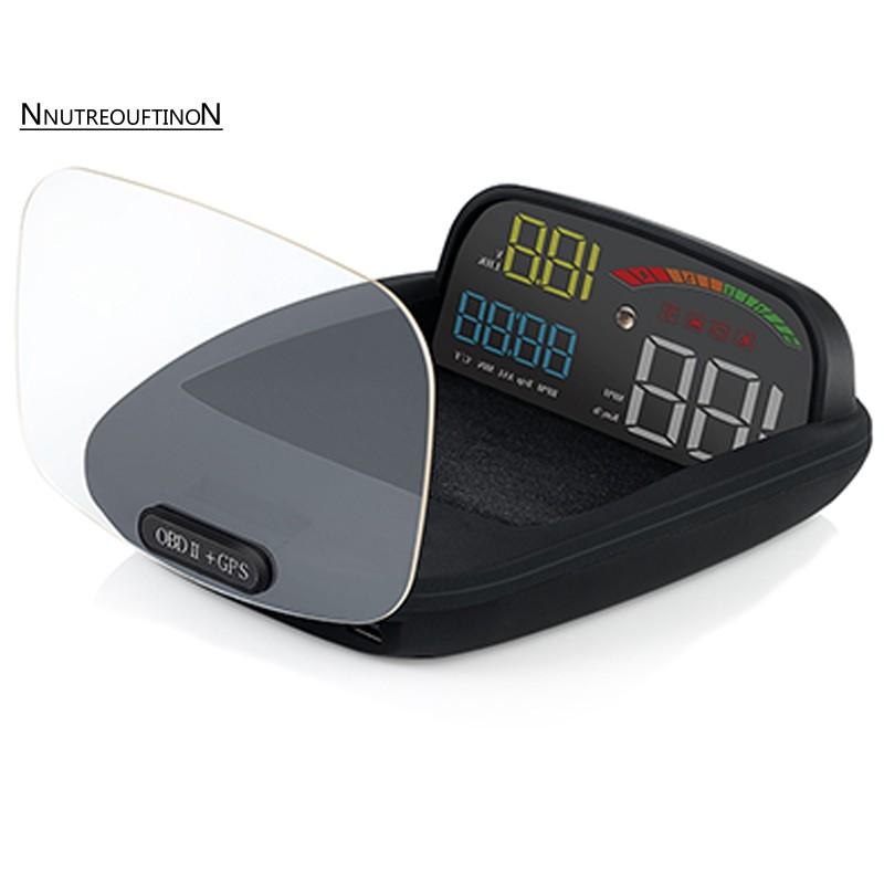 C800 HUD Head-Up Display OBD2 Multi-Function Car GPS HUD Auto Speedometer  OBD2 F
