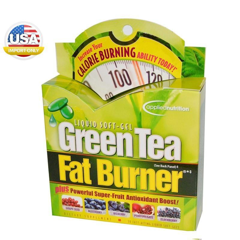 พร้อมส่ง_Green Tea Fat Burner, 30 Fast-Acting Liquid Soft-