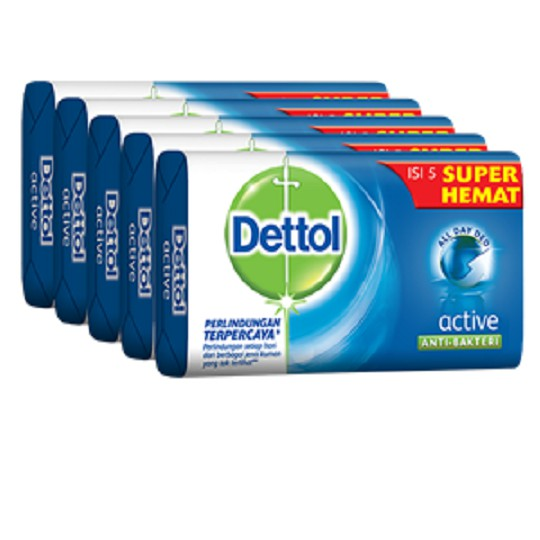 Dettol Active Anti-Bacterial 65gm