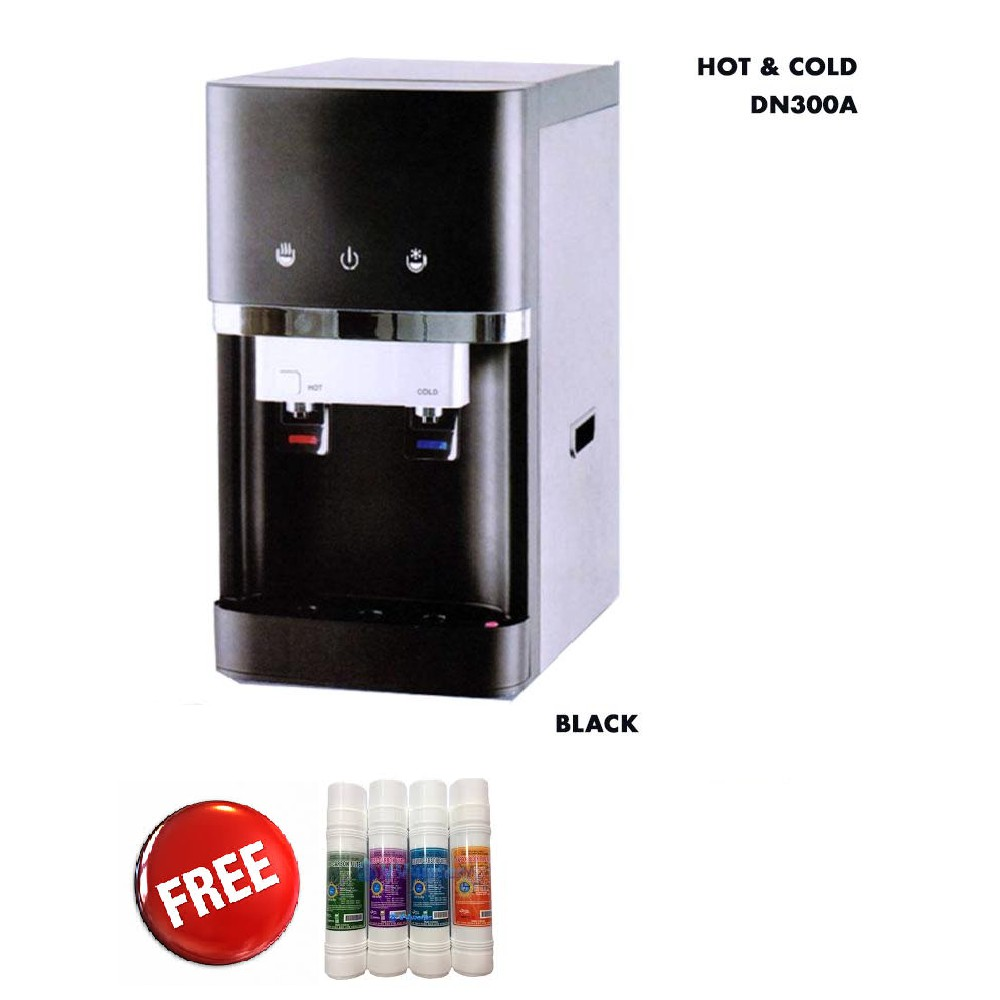 Hot and Cold Water Dispenser - Free Extra Filter 4pcs