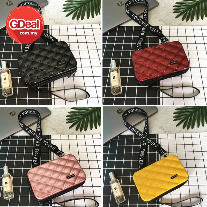 GDeal Casual Bag Korean Fashion Mini Suitcase Pouch Travel Luggage Style Small Cross Body Messenger Sling Bag (RYL-296)