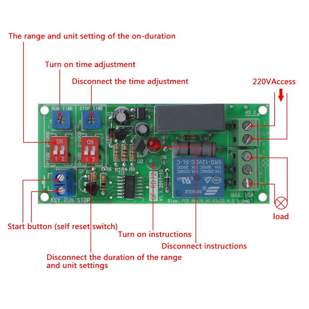 Relay Modules & Boards Electrical Equipment & Supplies AC