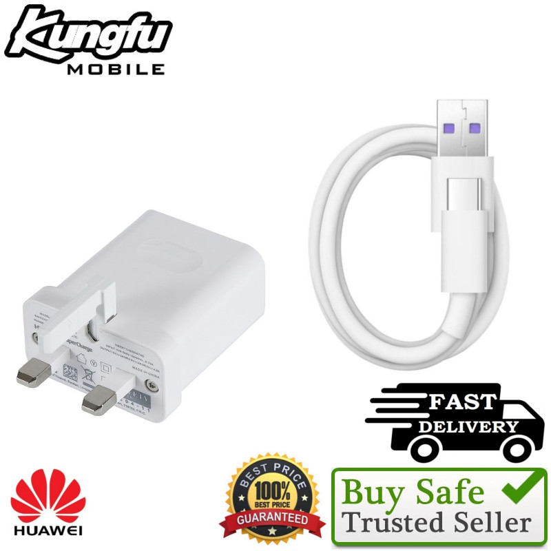 100% ORIGINAL HUAWEI Charger Adapter (5V/2A)&Type-C Cable