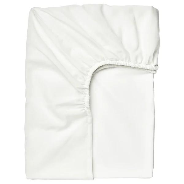 Ikea Taggvallmo Fitted Bedsheet White Single 90x200 Cm Cadar Katil Putih Shopee Malaysia