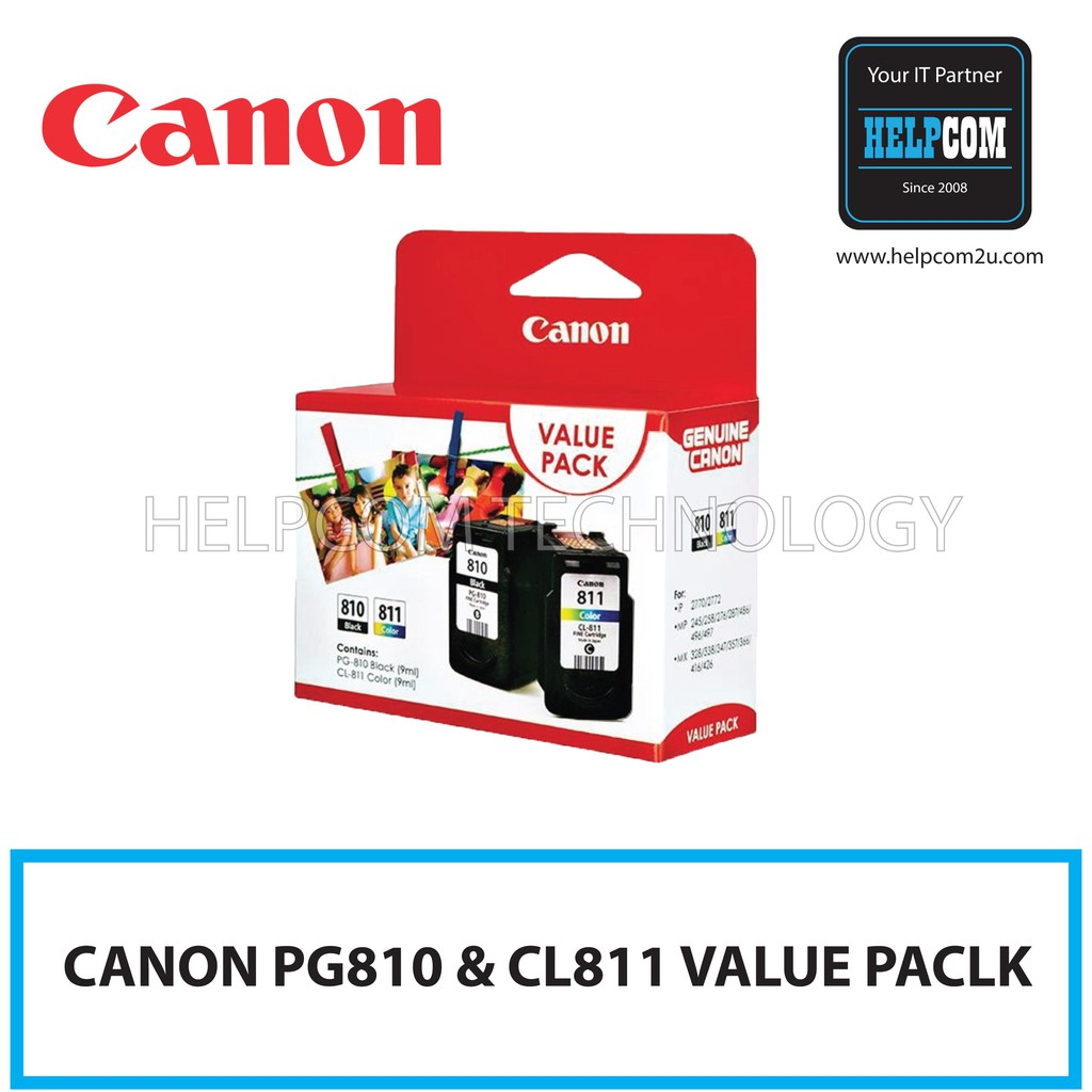 Canon Gi 790 Full Set Cartridge Bk C M Y For G1 2 3 4000 Printer Cl 811 Color Shopee Malaysia