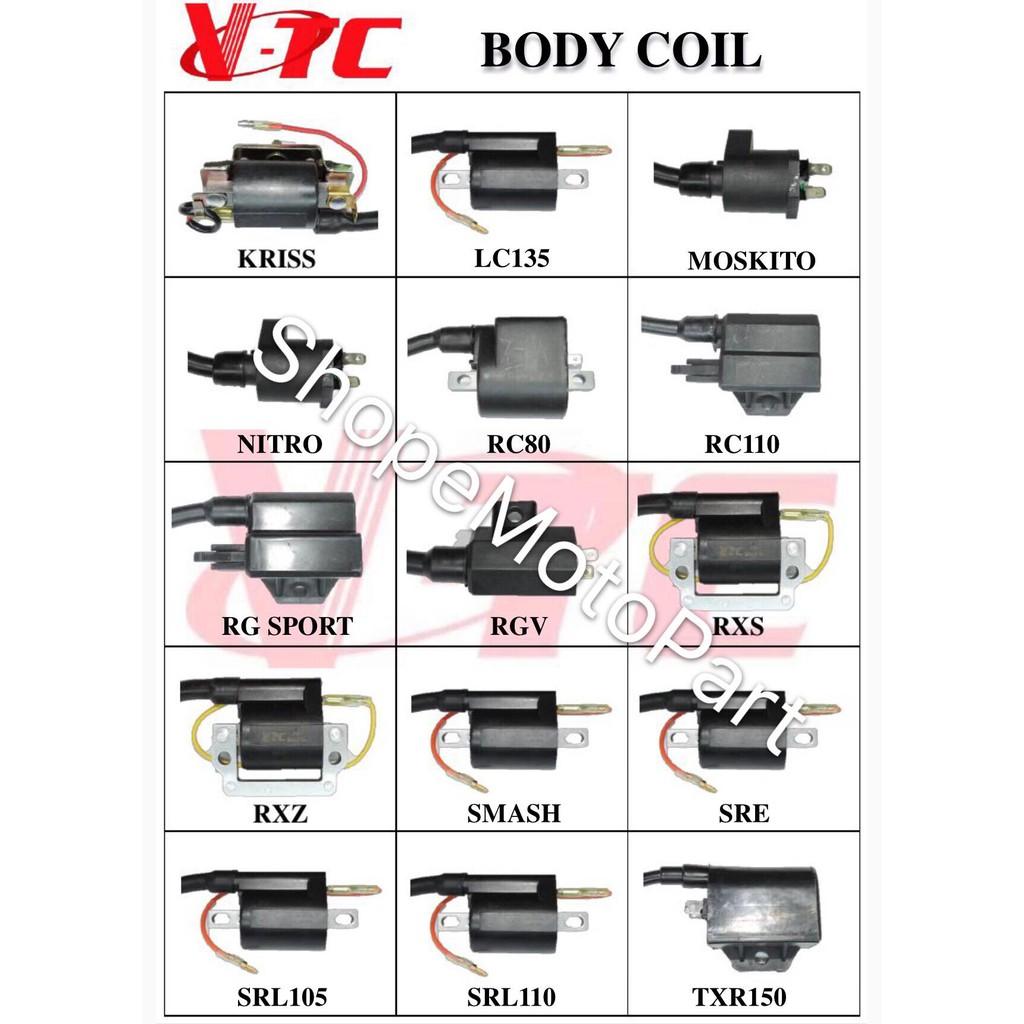 MODENAS KRISS 110 STD COIL PLUG COIL IGNITION BODY COIL VTC