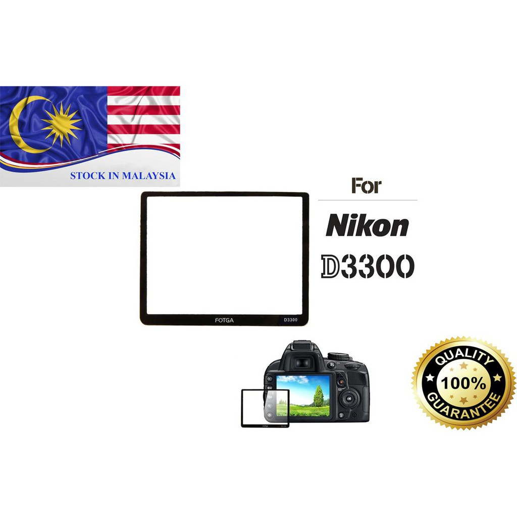 Fotga 0.5mm Premium LCD Screen Panel Protector Glass for Nikon D3300(Ready Stock In Malaysia)