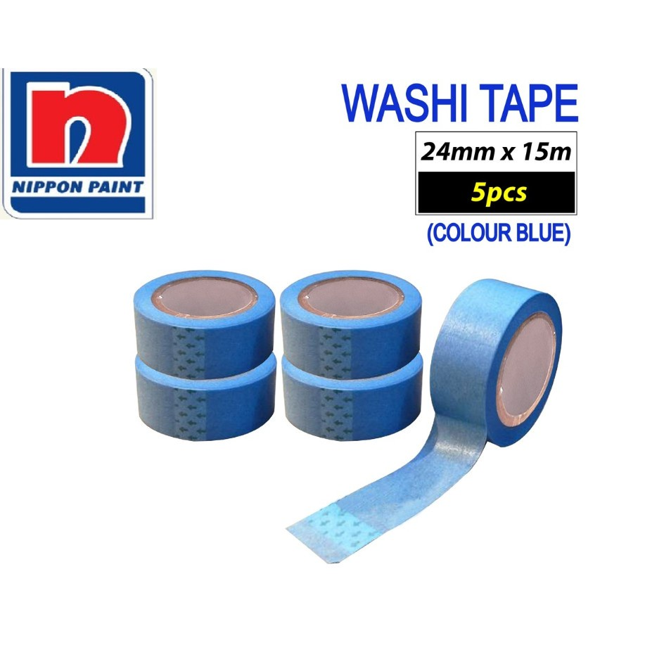 WASHI TAPE NIPPON PAINT (5 ROLL) 24MM X 15M / painter tape / painting tape