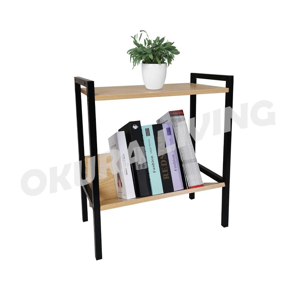 OKURA 2 Tier Book Shelf Home Office