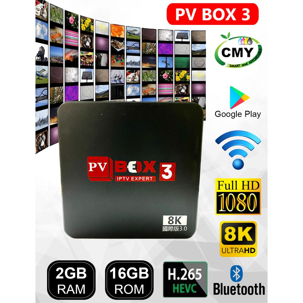 PVBOX 3 PV BOX 2+16GB ROM SMART TVBOX WIFI 5G DDR4