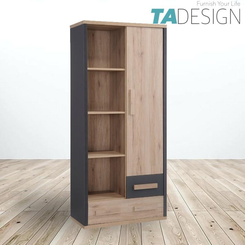 TAD KOBI 1 door 2 drawers book shelf bookcase filling cabinet/ rak buku/ rak buku bertutup