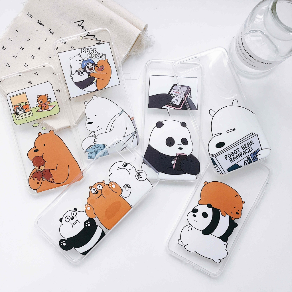 watch 841fd cfa36 We Bare Bears iPhone X 8 7 6s 6 Plus Soft Silicone Cute Cartoon Case