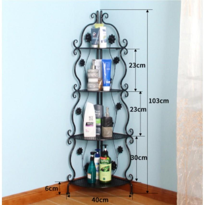[ READY STOCK ]  European Nordic Wrought Iron Storage Rack Perabut Furniture Almari Kitchen Cabinet Box Jualan Murah Toy