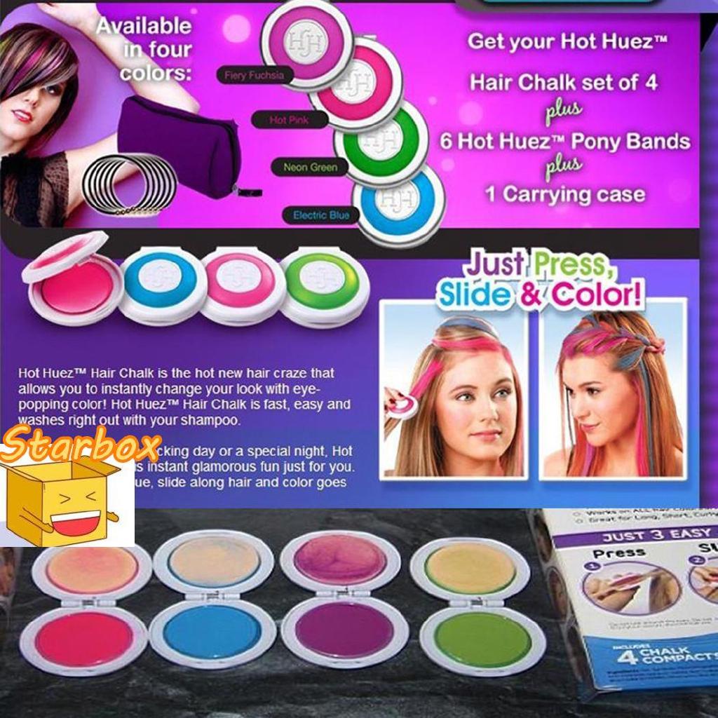 Women Temporary Hair Color Powder Dye Wash Out Chalk Hair DIY Party CVKV