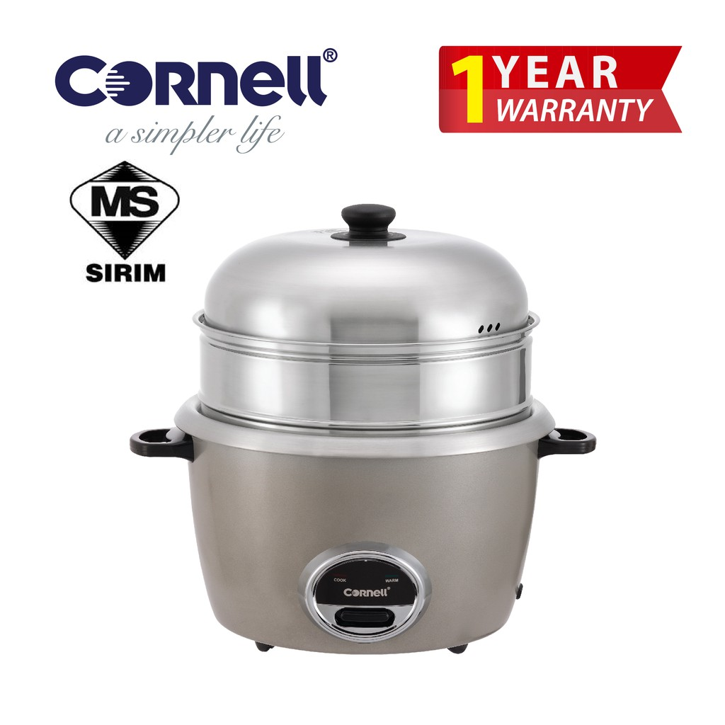 Cornell CRC-CP220SS SteamPro with Huge Multilayers SUS304 Cookwares Rice Cooker