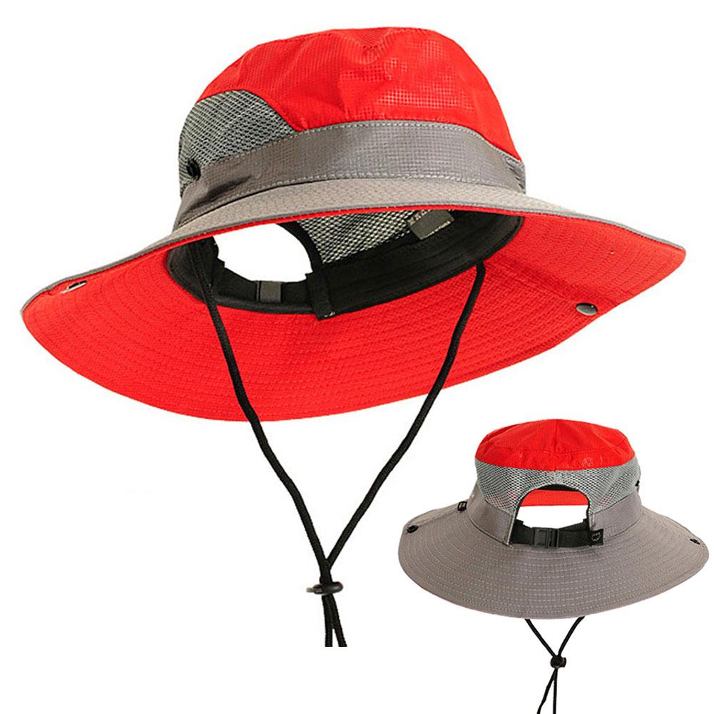 c0685ff7 Casual Adjustable Outdoor Breathable Unisex Polyester Summer Bucket Hat |  Shopee Malaysia