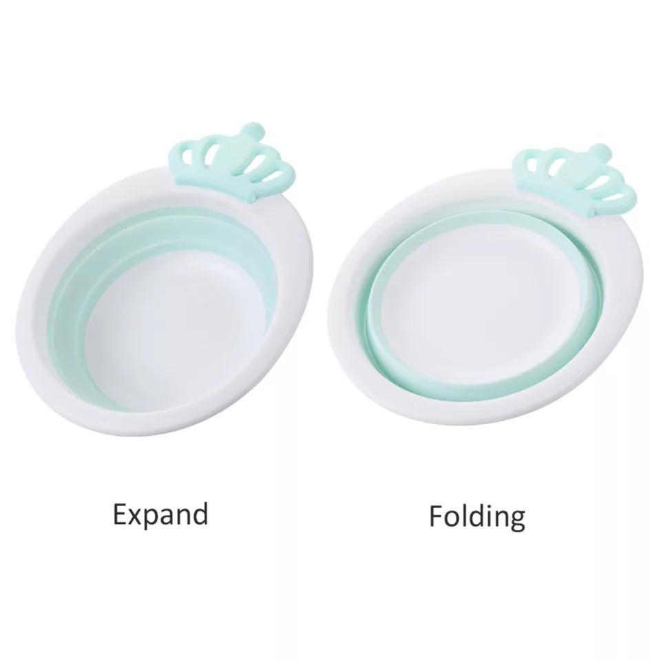 [ READY STOCK ]  Cute Princess Baby Folding Bucket Basin Outdoor Children Kid Face Wash Bowl Jualan Murah Bathroom Toilet
