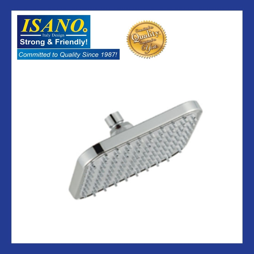 ISANO Square ABS Chromed Shower Head W/ Arm - 1807SH