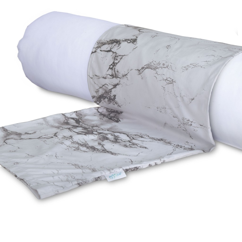 Essina Marble Microfiber Bolster Case 1 piece (PILLOW NOT INCLUDED)