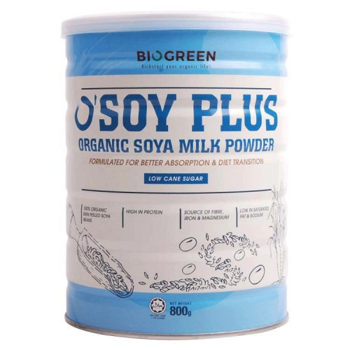 Biogreen O\'Soy Plus Organic Soya Milk Powder (Low Cane Sugar) 800g