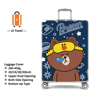 c2f939b22 [READY STOCK] Sleeping Line Brown Luggage cover dust protector 20/24/28/30  inch | Shopee Malaysia